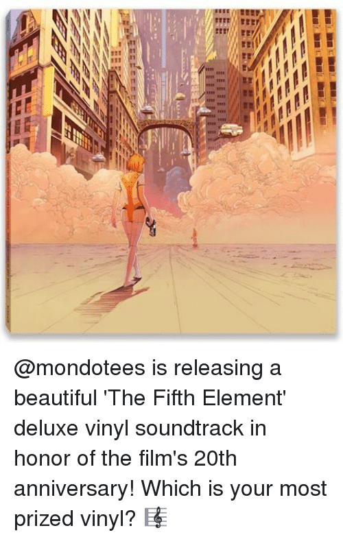 "Beautiful, Memes, and The Fifth Element: 0nBalkaBaika  3""  aa. I aaaa @mondotees is releasing a beautiful 'The Fifth Element' deluxe vinyl soundtrack in honor of the film's 20th anniversary! Which is your most prized vinyl? 🎼"