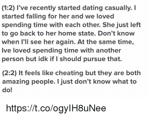 Cheated when we first started dating