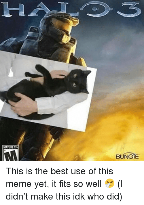 bungie: 1-2  MATURE 17  BUNGIE This is the best use of this meme yet, it fits so well 🤧 (I didn't make this idk who did)