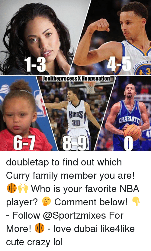 player: 1-3  Joelthe process XHoopsnation  HNGS  30  6-1  DEN s  CHARIOT doubletap to find out which Curry family member you are! 🏀🙌 Who is your favorite NBA player? 🤔 Comment below! 👇 - Follow @Sportzmixes For More! 🏀 - love dubai like4like cute crazy lol