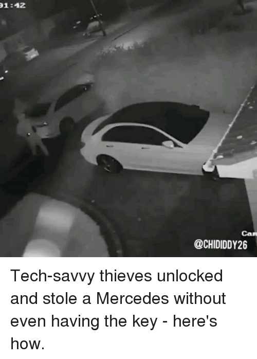 142 can tech savvy thieves unlocked and stole a mercedes for How to unlock mercedes benz door without key