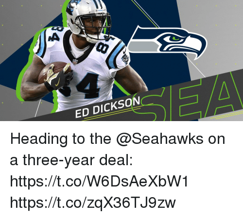 Memes, Seahawks, and 🤖: 1  ED DICKSON Heading to the @Seahawks on a three-year deal: https://t.co/W6DsAeXbW1 https://t.co/zqX36TJ9zw
