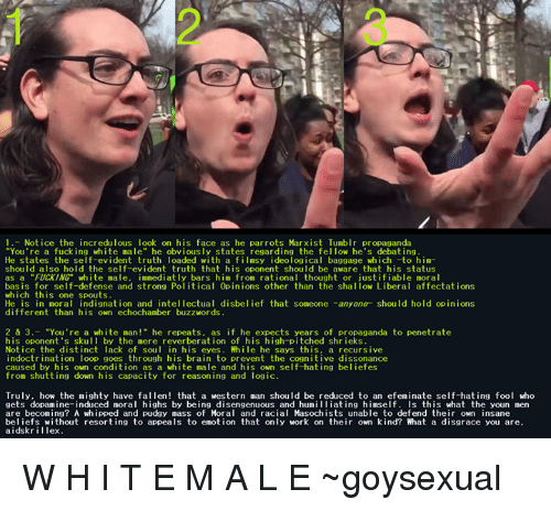 Your fucking a white male