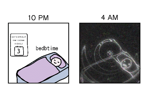 Anomaly,  Days, and Without: 10 PM  4 AM  DAY'S WITHOUT  DIMENSIONAL  ANOMALY  bedbtime