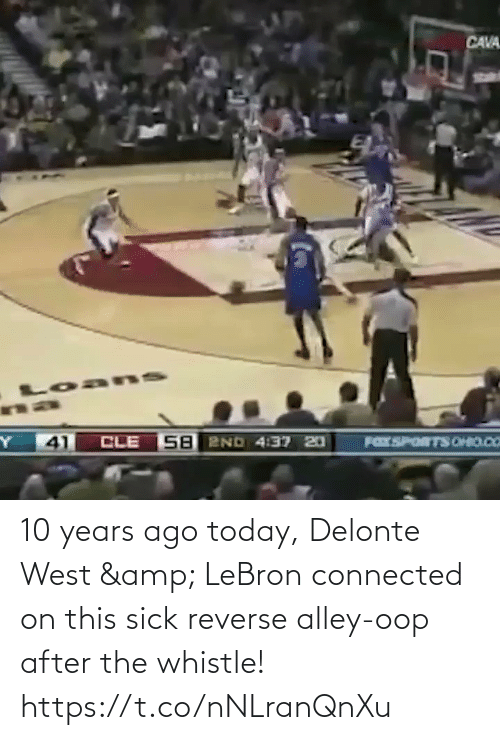 Lebron: 10 years ago today, Delonte West & LeBron connected on this sick reverse alley-oop after the whistle!    https://t.co/nNLranQnXu