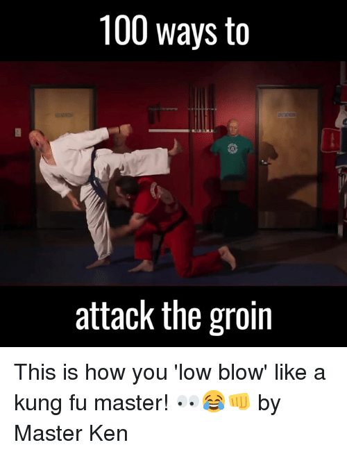 kung fu master: 100 ways to  attack the groin This is how you 'low blow' like a kung fu master! 👀😂👊  by Master Ken