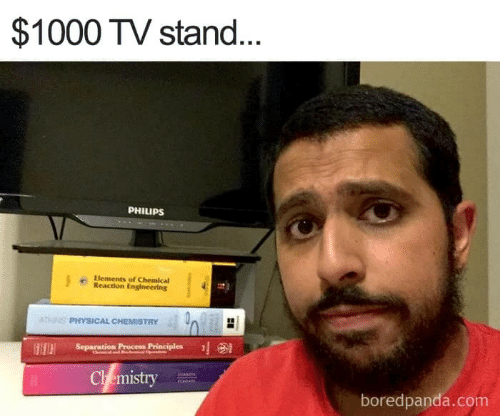 philips: $1000 TV stand.  PHILIPS  Elements of Chemical  Reaction Engineering  PHYSICAL CHEMISTRY 40  Separation Proce Principles  Ch emistry  boredpanda.com