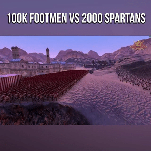 spartans: 100K FOOTMEN VS 2000 SPARTANS