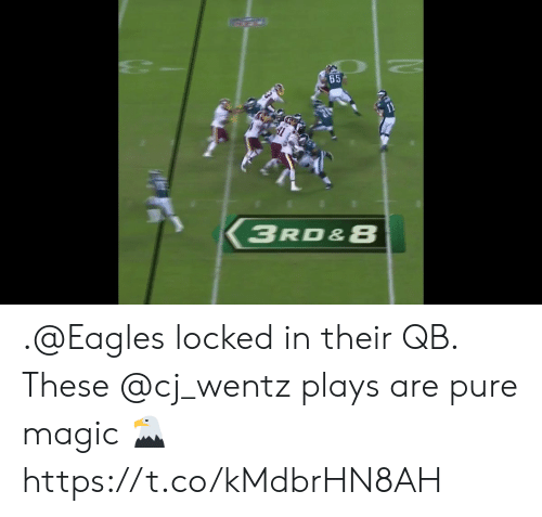 locked in: 11  3RD&8 .@Eagles locked in their QB.  These @cj_wentz plays are pure magic 🦅 https://t.co/kMdbrHN8AH