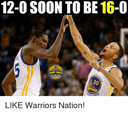 Nba, Soon..., and Warriors: 12-0 SOON TO BE 16-0  LDEN  WARRIORS  30 LIKE Warriors Nation!