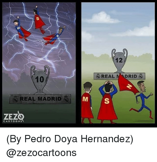 Real Madrid, Cartoons, and Madrid: 12  10  REAL MADRID  CARTOONS (By Pedro Doya Hernandez) @zezocartoons