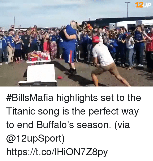 Football, Nfl, and Sports: 12 #BillsMafia highlights set to the Titanic song is the perfect way to end Buffalo's season. (via @12upSport) https://t.co/lHiON7Z8py