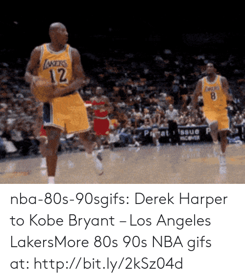 Los Angeles Lakers: 12  Pa at i Issue nba-80s-90sgifs:  Derek Harper to Kobe Bryant – Los Angeles LakersMore 80s  90s NBA gifs at: http://bit.ly/2kSz04d