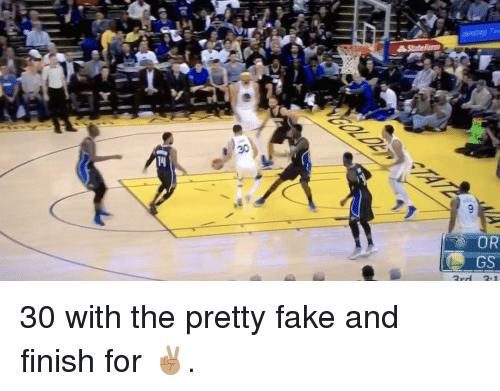 Basketball, Golden State Warriors, and Sports: 14  OR  3rd 3.1  OG  @bhl 30 with the pretty fake and finish for ✌🏽.