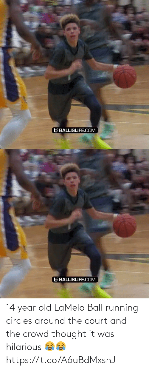 crowd: 14 year old LaMelo Ball running circles around the court and the crowd thought it was hilarious 😂😂 https://t.co/A6uBdMxsnJ