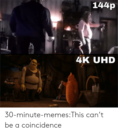 144P: 144p  4K UHD 30-minute-memes:This can't be a coincidence