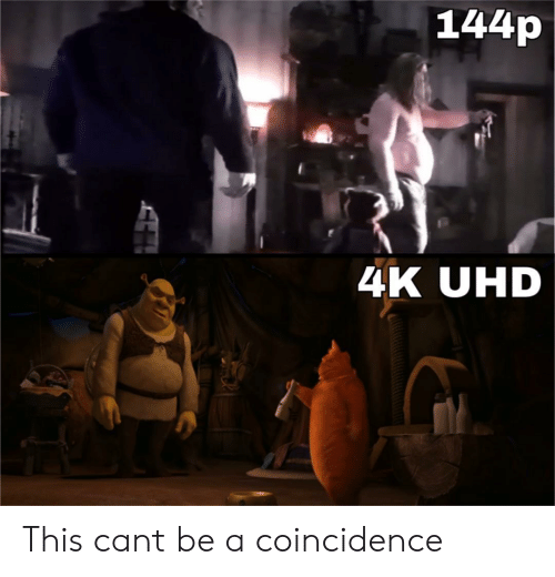 144P: 144p  4K UHD This cant be a coincidence