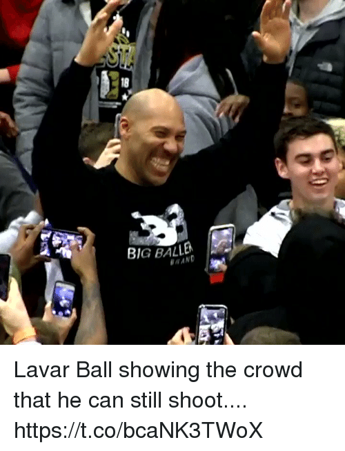 rand: 18  BIG BALLEN  RAND Lavar Ball showing the crowd that he can still shoot.... https://t.co/bcaNK3TWoX