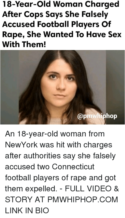 Memes, Old Woman, and Connecticut: 18-Year-old woman charged  After Cops Says She Falsely  Accused Football Players of  Rape, She Wanted To Have Sex  With Them!  apmwhiphop An 18-year-old woman from NewYork was hit with charges after authorities say she falsely accused two Connecticut football players of rape and got them expelled. - FULL VIDEO & STORY AT PMWHIPHOP.COM LINK IN BIO