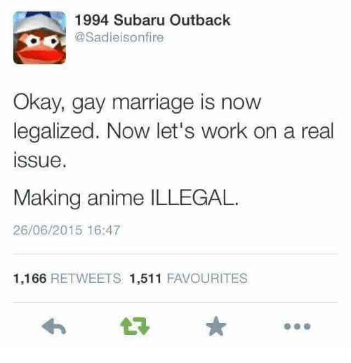 Reasons why gay marriage should be illegal