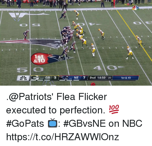 Flea: 1st  &10  331 GB 3  2 NE7 2nd 14:32 :20  6-2  1st & 10 .@Patriots' Flea Flicker executed to perfection. 💯 #GoPats  📺: #GBvsNE on NBC https://t.co/HRZAWWlOnz