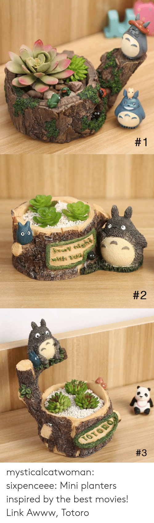 best movies: mysticalcatwoman:  sixpenceee:  Mini planters inspired by the best movies! Link  Awww, Totoro