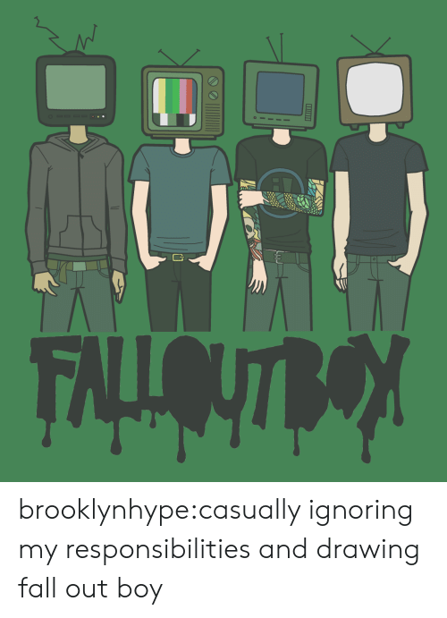 Fall Out Boy: 2 brooklynhype:casually ignoring my responsibilities and drawing fall out boy