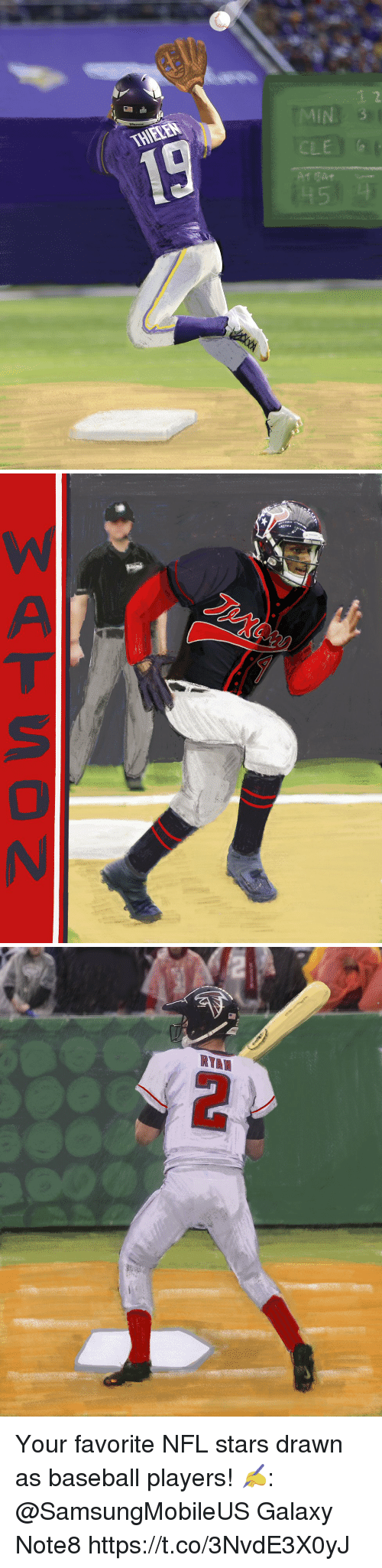 2 in le your favorite nfl stars drawn as baseball players