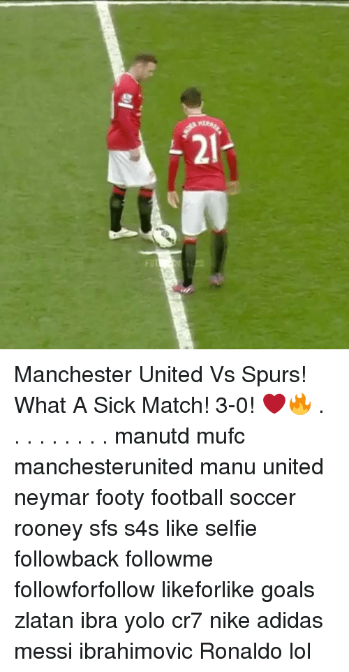 Memes, 🤖, and Rooney: 2 Manchester United Vs Spurs! What A Sick Match! 3-0! ❤🔥 . . . . . . . . . manutd mufc manchesterunited manu united neymar footy football soccer rooney sfs s4s like selfie followback followme followforfollow likeforlike goals zlatan ibra yolo cr7 nike adidas messi ibrahimovic Ronaldo lol
