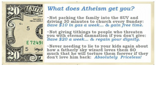 Do Not Complain If The Person You Love Don T Love You Back: 20 What Does Atheism Get You? Not Packing The Family Into