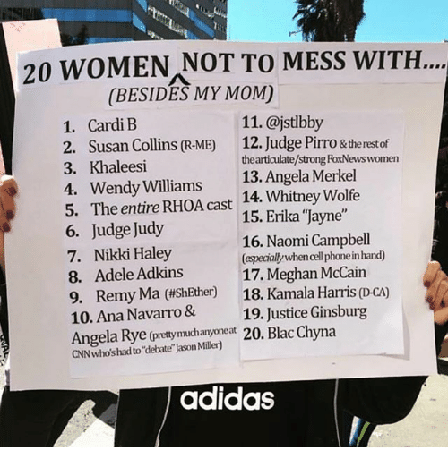 20 WOMEN NOT TO MESS WITH BESIDES MY MOM 11 1 Cardi E 2