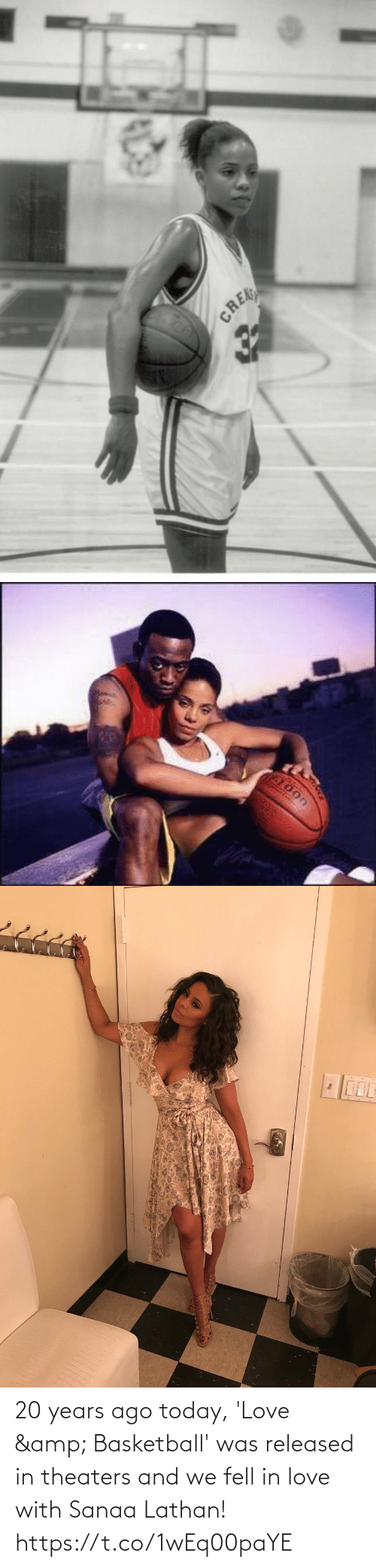 Basketball: 20 years ago today, 'Love & Basketball' was released in theaters and we fell in love with Sanaa Lathan! https://t.co/1wEq00paYE