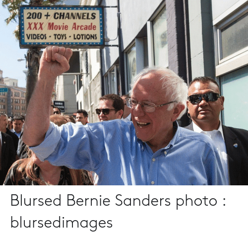 soma: 200+CHANNELS  XXX Movie Arcade  VIDEOS-TOYS LOTIONS  Soma  gets Blursed Bernie Sanders photo : blursedimages
