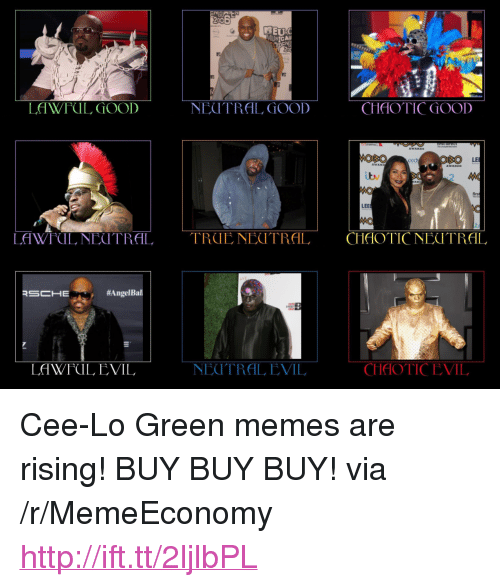 """cee lo green: 200  TE  AOSO  LE  Lv  firs  LEE  MO  LAWFUL, NEUTRAL TRUENECTRAL CHAOTICNEOTRAL  #Angel Bal  NEUTRAL EVIL  CHAOTICEVIL  LAWFUL EVIL <p>Cee-Lo Green memes are rising! BUY BUY BUY! via /r/MemeEconomy <a href=""""http://ift.tt/2ljlbPL"""">http://ift.tt/2ljlbPL</a></p>"""