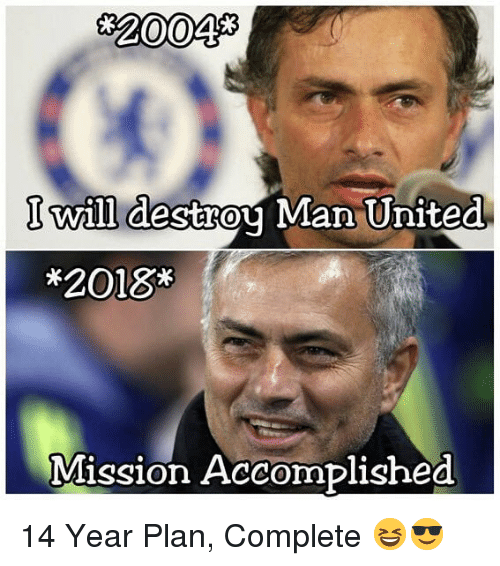 man united: 20048  I will destrou Man United  *2018*  Mission Accomplished 14 Year Plan, Complete 😆😎