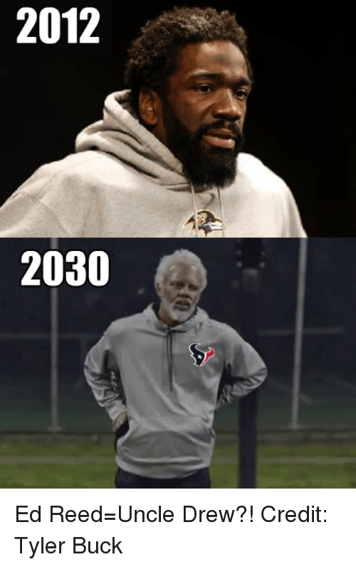 Ed Reed: 2012  2030 Ed Reed=Uncle Drew?! Credit: Tyler Buck