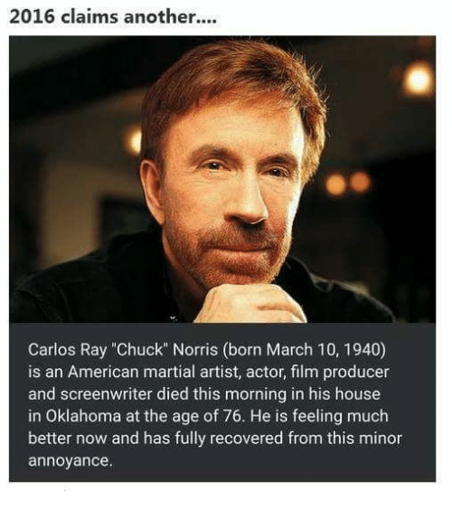 2016 claims another carlos ray chuck norris born march 10. Black Bedroom Furniture Sets. Home Design Ideas