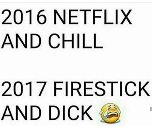 Memes, Netflix, and Netflix and Chill: 2016 NETFLIX  AND CHILL  2017 FIRESTICK  AND DICK