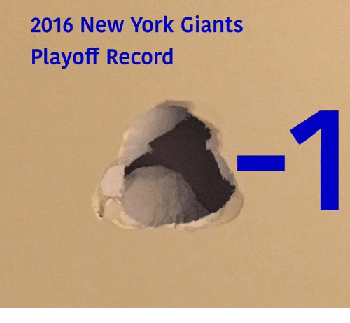 New York, New York Giants, and Nfl: 2016 New York Giants  Playoff Record