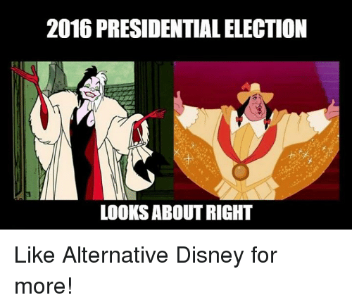 2016 PRESIDENTIAL ELECTION LOOKS ABOUT RIGHT Like ...