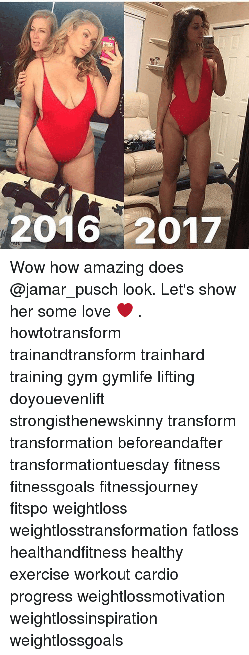 Doyouevenlift: 2017 Wow how amazing does @jamar_pusch look. Let's show her some love ❤️ . howtotransform trainandtransform trainhard training gym gymlife lifting doyouevenlift strongisthenewskinny transform transformation beforeandafter transformationtuesday fitness fitnessgoals fitnessjourney fitspo weightloss weightlosstransformation fatloss healthandfitness healthy exercise workout cardio progress weightlossmotivation weightlossinspiration weightlossgoals