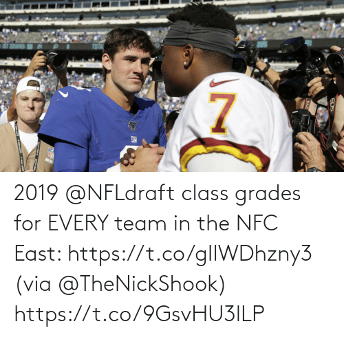 nfc east: 2019 @NFLdraft class grades for EVERY team in the NFC East: https://t.co/gIlWDhzny3 (via @TheNickShook) https://t.co/9GsvHU3lLP