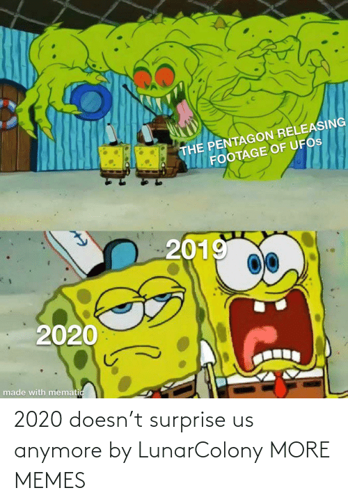 anymore: 2020 doesn't surprise us anymore by LunarColony MORE MEMES