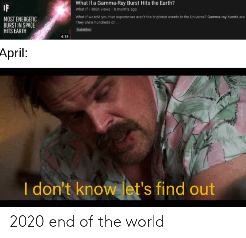 end of the world: 2020 end of the world