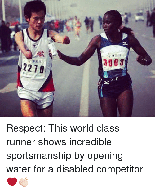 respect and sportsmanship