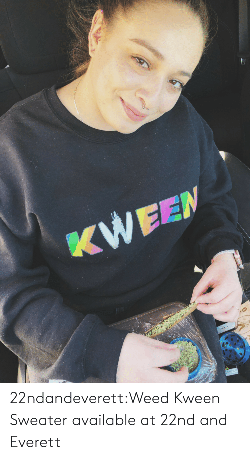 broad city: 22ndandeverett:Weed Kween Sweater available at 22nd and Everett