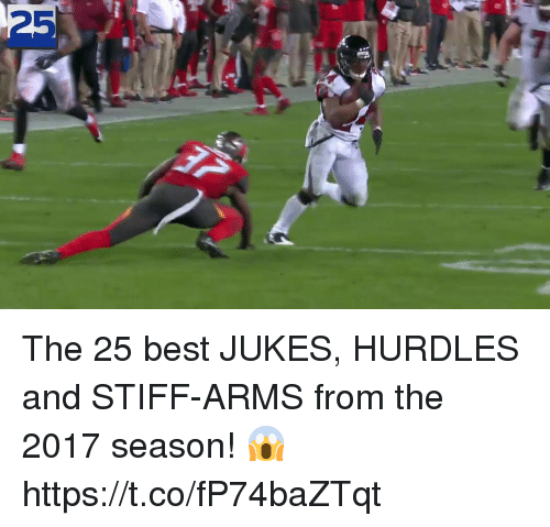 Memes, Best, and 🤖: 25 The 25 best JUKES, HURDLES and STIFF-ARMS from the 2017 season! 😱 https://t.co/fP74baZTqt