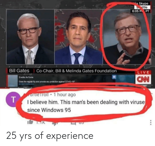Experience: 25 yrs of experience