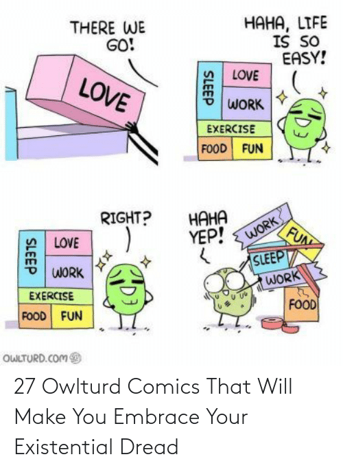 Owlturd: 27 Owlturd Comics That Will Make You Embrace Your Existential Dread