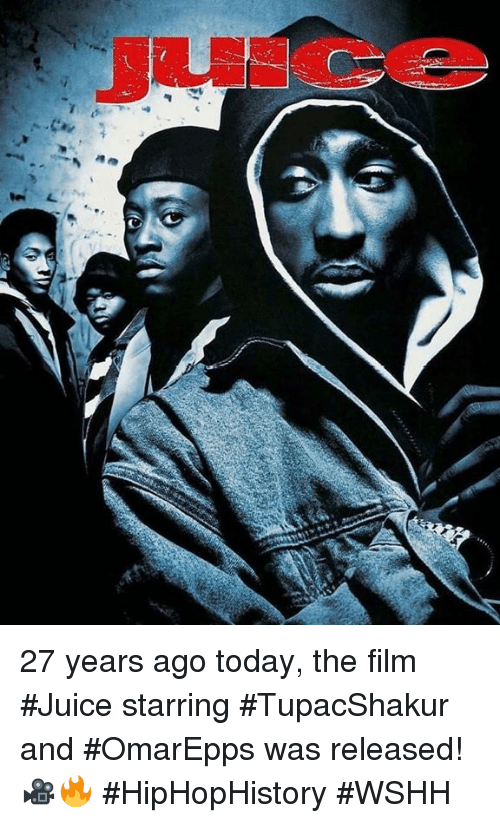 wshh: 27 years ago today, the film #Juice starring #TupacShakur and #OmarEpps was released! 🎥🔥 #HipHopHistory #WSHH